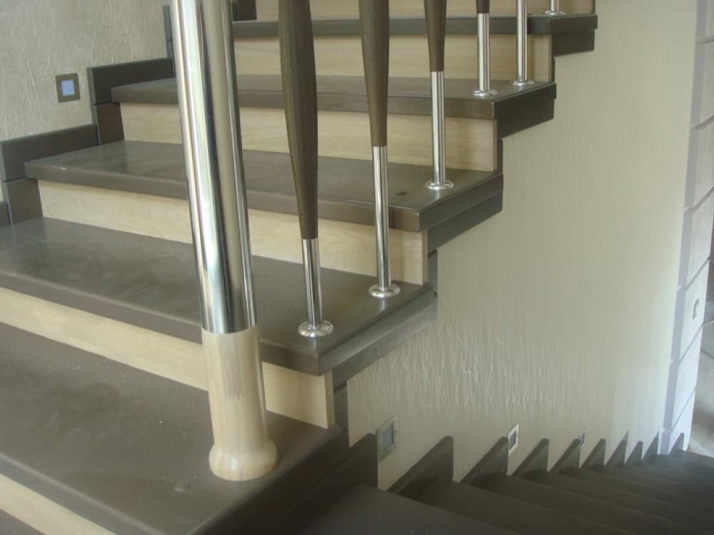 Обшивка бетонных лестниц деревом своими руками